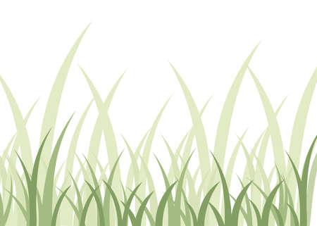 Green grass. Flat vector illustration for landscape or background.