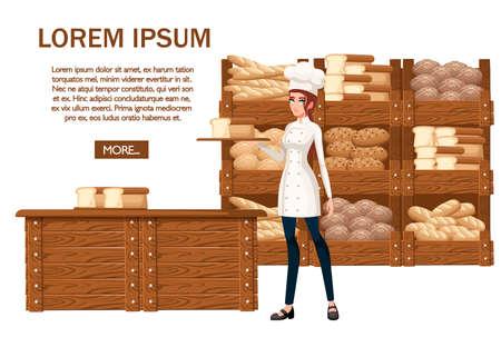 Women bakery chef Stockfoto - 118881215