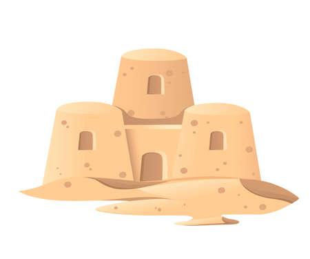 Simple sand castle icon. Çizim