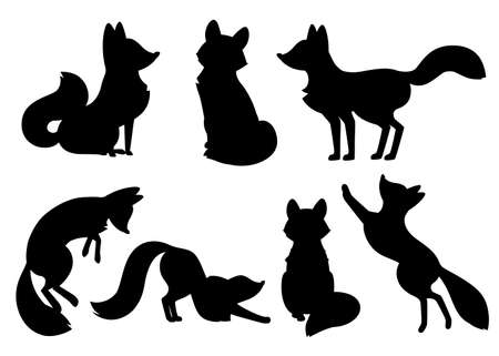 Black fox silhouette.
