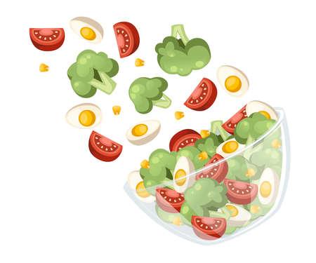 Vegetables salad recipe.