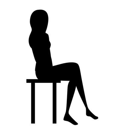Black women silhouette. Illustration