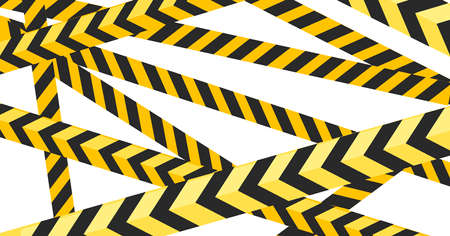 Black and yellow striped tape police or construction design flat Standard-Bild - 124963543