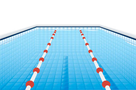 Professional swimming pool with paths for dip and water