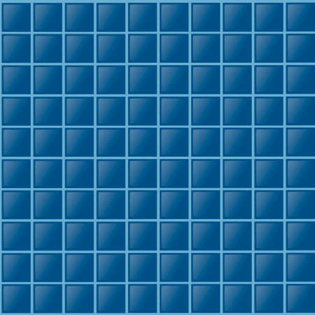 Seamless pattern of blue tiles for pool or bathroom