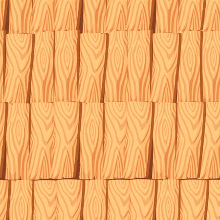 Seamless pattern of wooden planks board