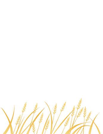 Yellow african savanna grass flat vector illustration on white background vertical design. Ilustração
