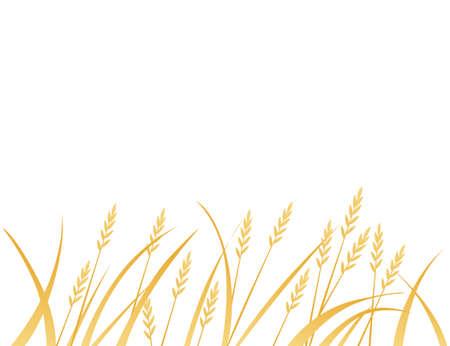 Yellow african savanna grass flat vector illustration on white background.