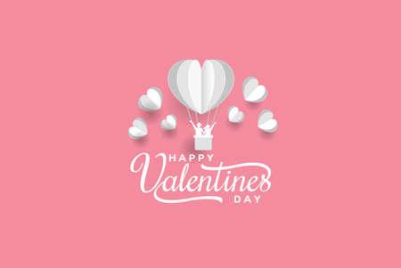 Valentine balloon paper art