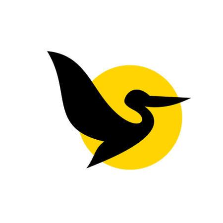 pelican line logo icon designs