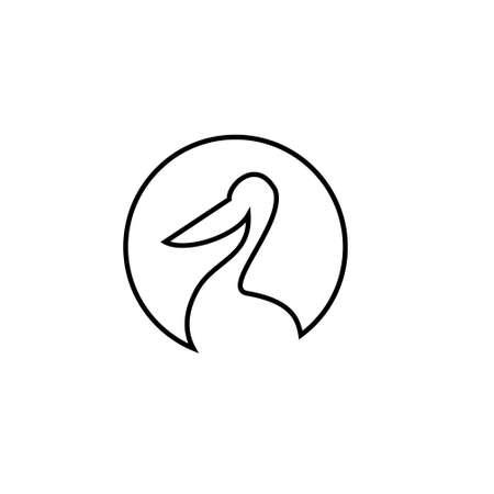 pelican line vector icon designs