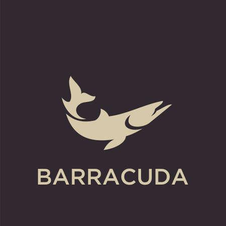 BARRACUDA logo icon designs vector Illustration