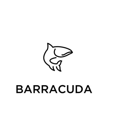 BARRACUDA vector icon 写真素材 - 108255556