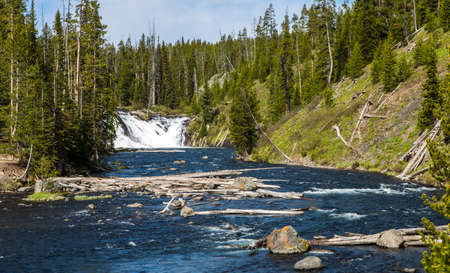 meanders: The Yellowstone River meanders through the beautiful Heyden Valley between Yellowstone Lake and the Upper Falls of the Yellowstone
