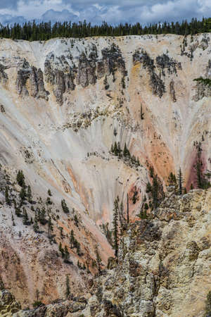 lower yellowstone falls: Lower Falls of the Yellowstone River, Wyoming, USA Stock Photo