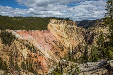 lower yellowstone falls: Lower falls of the Yellowstone River, Wyoming, USA