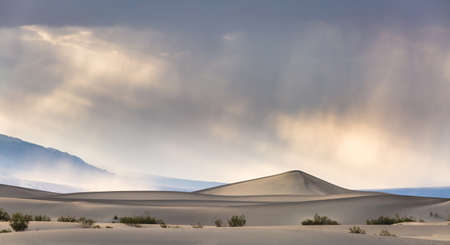 alluvial: Death Valley National Park Dunes Stock Photo