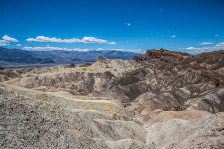 rugged terrain: Zabriskie Point Panorama - Death Valley National Park