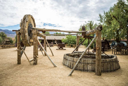 borax: DEATH VALLEY, USA - JUNE 13,2015 - The Harmony Borax Works is located in Death Valley at Furnace Creek Springs.
