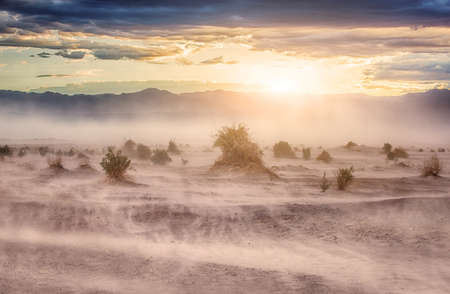 Death Valley National Park During The dust storm