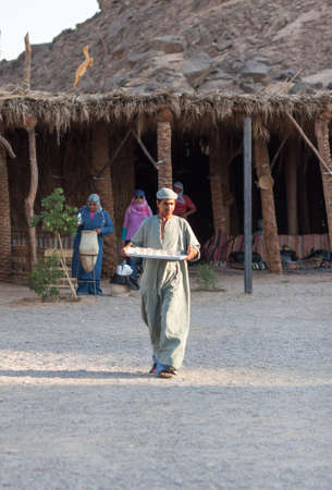 HURGHADA, EGYPT - September 29: Unidentified bedouins in the old part of Hurghada, September 29, 2011.