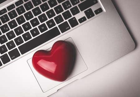 internet love: I love my job. Toned Image. Stock Photo