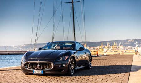 MUGGIA, ITALY MARCH 16, 2013: Photo of a Maserati GranTurismo S. The Maserati GranTurismo is a two-door Redakční