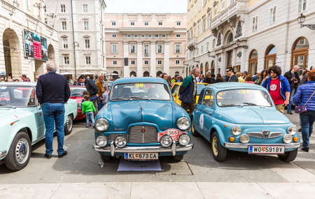 regularity: TRIESTE, ITALY - APRIL 3: Photo of a Sephyr Six and Fiat 500 Puch on the Trieste Opicina Historic. APRIL 3, 2016. Trieste Opicina Historic regularity is run for Vintage and Classic Cars.