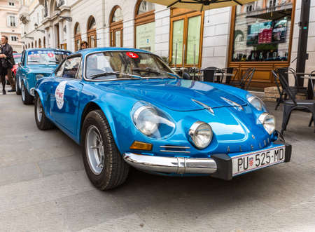 superleggera: TRIESTE, ITALY - APRIL 3: Photo of a Renault Alpine Berlinette 1300 on the Trieste Opicina Historic. APRIL 3, 2016. Trieste Opicina Historic regularity is run for Vintage and Classic Cars. Editorial