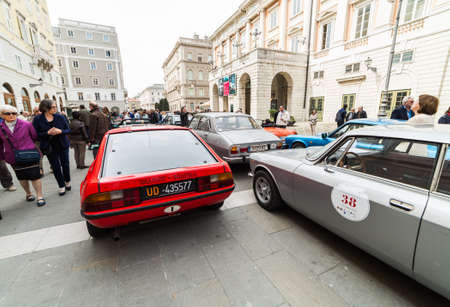 regularity: TRIESTE, ITALY - APRIL 3: Photo of a Talbot Matra on the Trieste Opicina Historic. APRIL 3, 2016. Trieste Opicina Historic regularity is run for Vintage and Classic Cars.