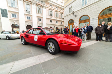mondial: TRIESTE, ITALY - APRIL 3: Photo of Ferrari Mondial 8 on the Trieste Opicina Historic. APRIL 3, 2016. Trieste Opicina Historic regularity is run for Vintage and Classic Cars. Editorial