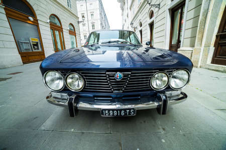 regularity: TRIESTE, ITALY - APRIL 3: Photo of a Alfa Romeo GT model on the Trieste Opicina Historic. APRIL 3, 2016. Trieste Opicina Historic regularity is run for Vintage and Classic Cars.
