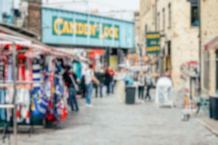 Abstract blurry background: Camdem Lock Market