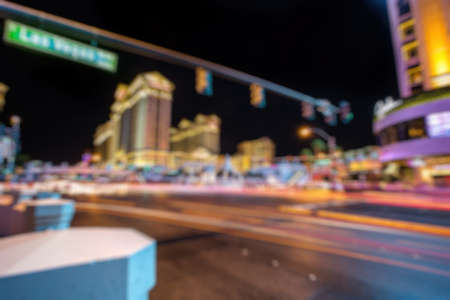 Abstract Blurry Background: City life in Las Vegas 스톡 콘텐츠