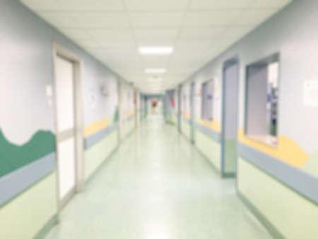 walkway: Hospital interior corridor blurred background