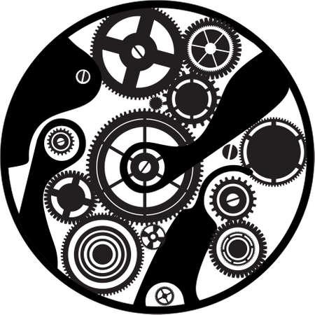 silueta de reloj