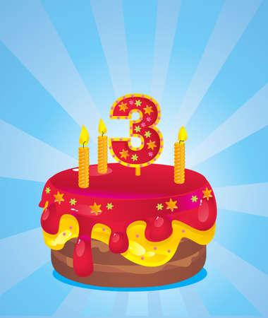 torta con candeline: torta di compleanno con le candele colorate ghiacciato