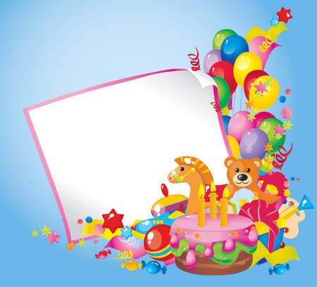 happy birthday cake: Ni�os