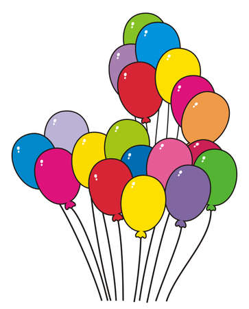 slick: illustration - a bunch of colorful balloons