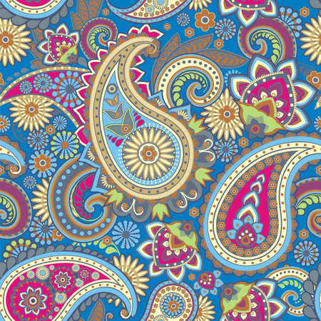 motif floral: Seamless pattern based on traditional Asian elements Paisley