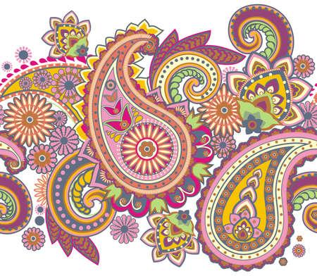 paisley: Seamless pattern sulla base di elementi tradizionali asiatici Paisley