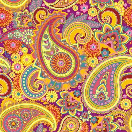 paisley pattern: Seamless pattern based on traditional Asian elements Paisley