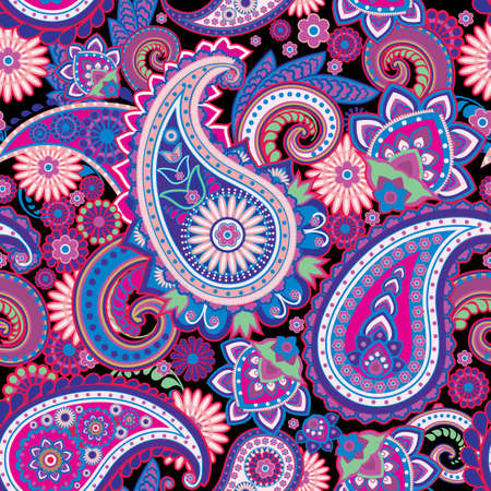 india pattern: Seamless pattern based on traditional Asian elements Paisley
