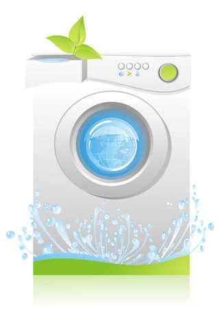 machine à laver: économies d'énergie et d'eau pour machine à laver - notion