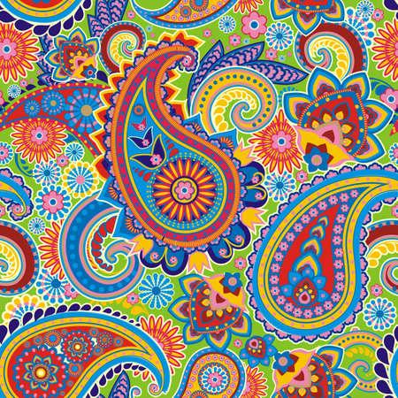 Seamless pattern fondée sur des éléments traditionnels asiatiques Paisley