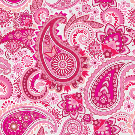 Seamless pattern based on traditional Asian elements Paisley Stock Vector - 16194552