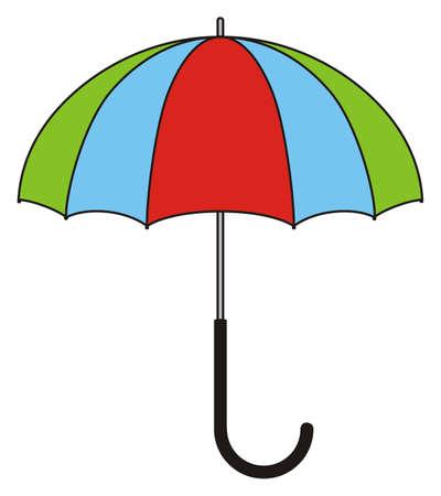 Children's illustration - colorful umbrella Stock Illustratie