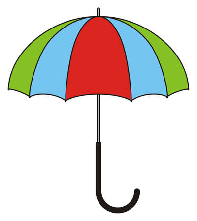 Childrens illustration - colorful umbrella Ilustração