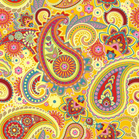 ペルシア: 伝統的なアジア要素ペイズリーに基づいたシームレスなパターン  イラスト・ベクター素材