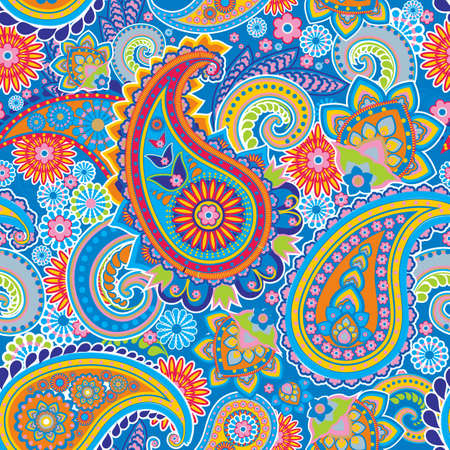Seamless pattern based on traditional Asian elements Paisley Reklamní fotografie - 16194555